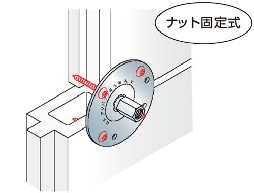 GS アシバツナギ 3WAY ナット固定式 ECP(押出成形セメント板)