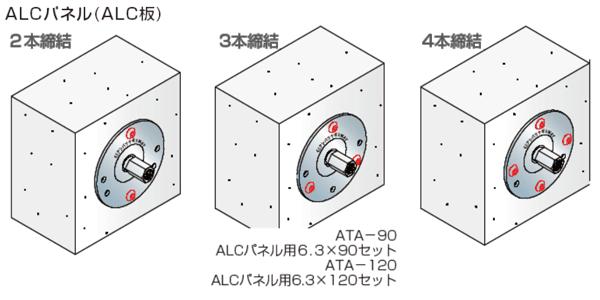 GS アシバツナギ 3WAY ナット固定式 ALCパネル(ALC板)用 施工例