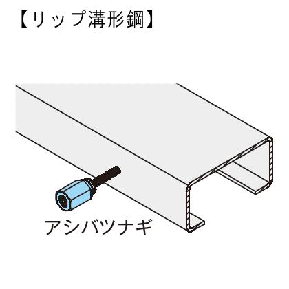 GS 新アシバツナギS SMタイプ ナット可動式 施工例