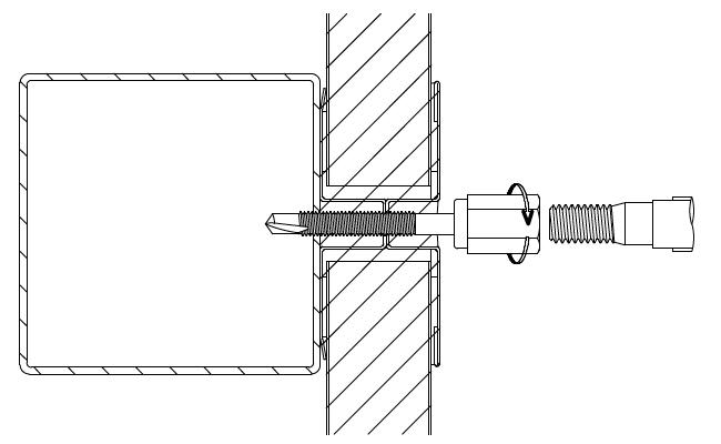 アシバツナギ 金属断熱サンドイッチパネル用 施工手順