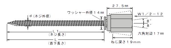 アシバツナギ AWW-105 寸法図