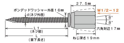 アシバツナギ AWW-70 寸法図