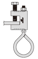 チェーン吊り用クランプ