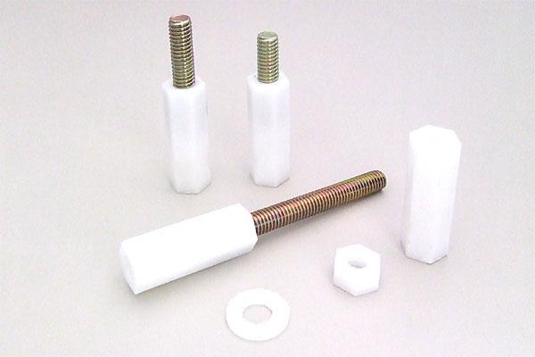 エンプラ高ナット スチールボルト付き、エンプラ高ナット、プラスチックワッシャー