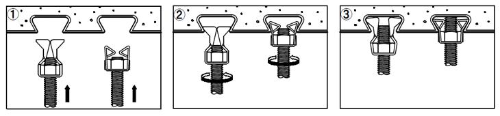 デッキハンガー施工方法
