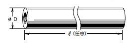 エンプラ丸高ナット寸法図