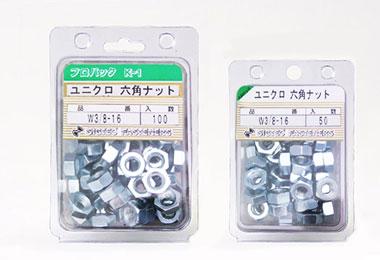 ユニクロ 六角ナット W3/8-16 1種 片面取り