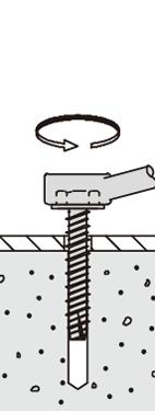 プレコンアンカーII プレキャストコンクリート用ビス 六角頭タイプ 施工方法