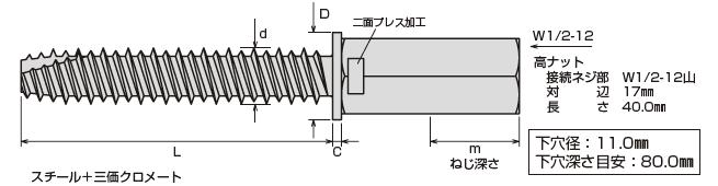 アシバツナギ プレコンタイプ 〈ナット固定式〉