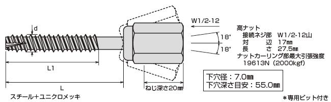 アシバツナギ プレコンタイプ 〈ナット可動式〉