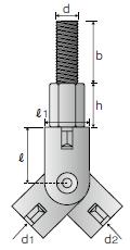 吊りボルト支持具 RB-WNタイプ