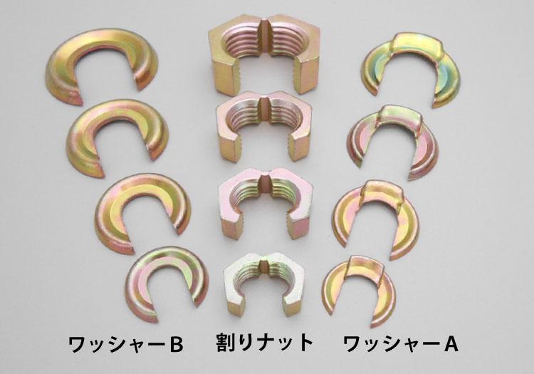 スナップナット ワッシャー組込み式 鉄製/クロメートめっき