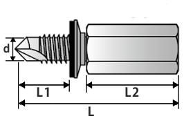 高ナット付きハンガー NFS-W3/8×18 寸法図
